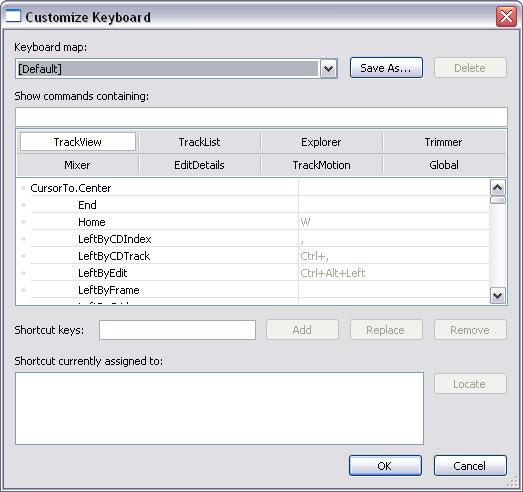 Customize keyboard shortcuts in VEGAS