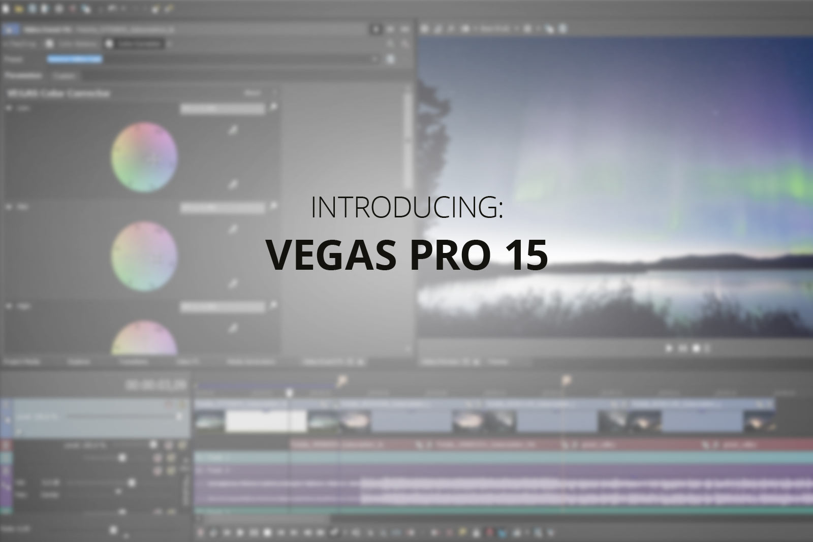 Preview bild: Vegas Pro 15 video editing screen