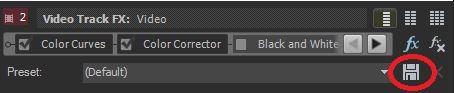 saving presets color correction in vegas movie studio 14 platinum