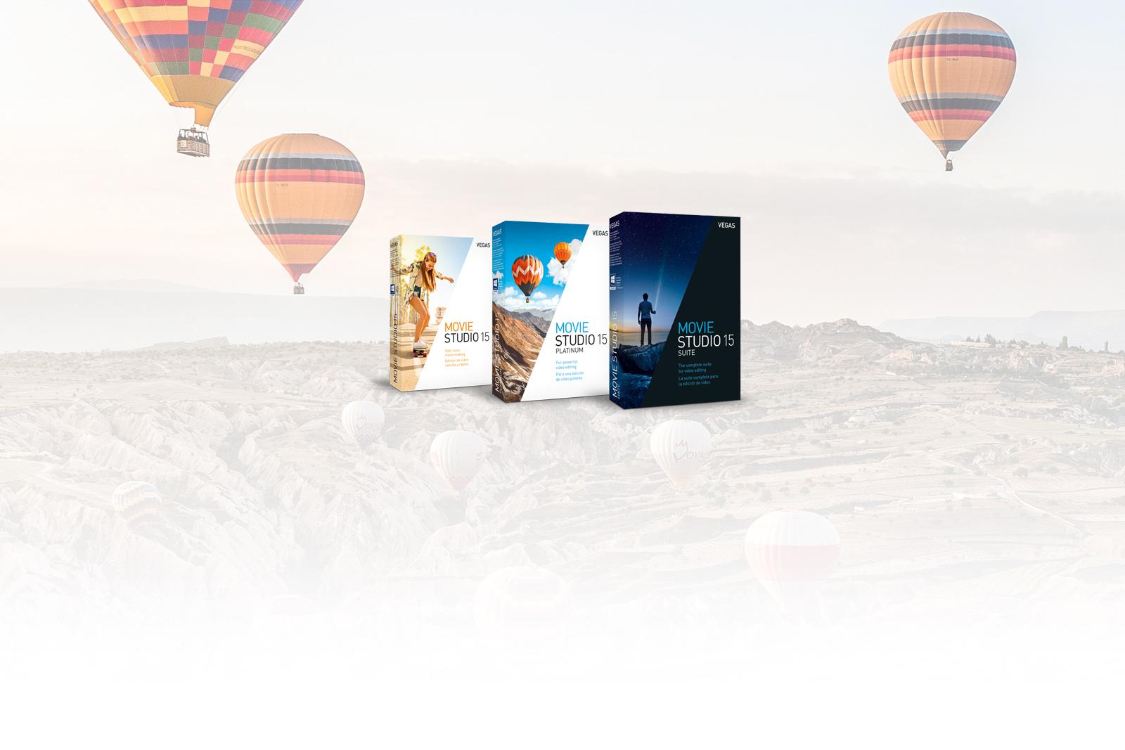 Edit with pro features in VEGAS Movie Studio 15