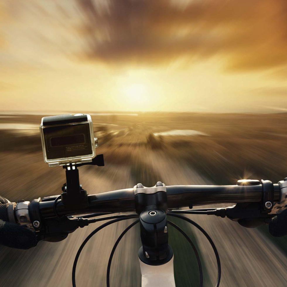 action cam on bike